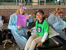 TeamSmile dental appointment for child at Fenway